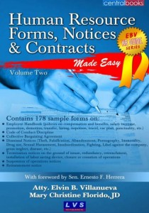 HR Forms, Notices & Contracts Vol. 2 by Villanueva and Florido